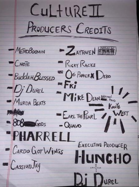 Migos 'Culture II' producers