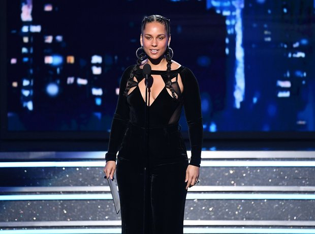 Alicia Keys at the Grammys 2018