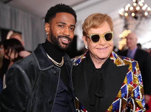 Big Sean and Elton John at The Grammy Awards 2018