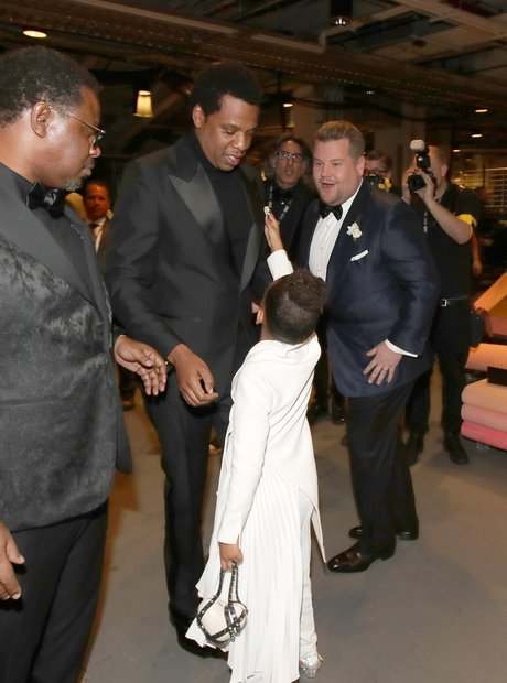 Jay-Z, Blue Ivy Carter and James Corden Grammy Awa