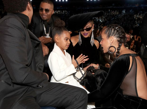 Jay-Z, NAS, Blue Ivy, Beyonce Knowles and Alicia K