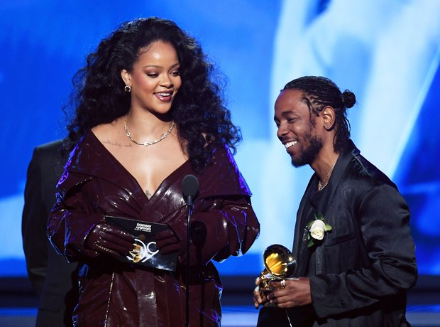 Rihanna and Kendrick Lamar Grammy Awards 2018