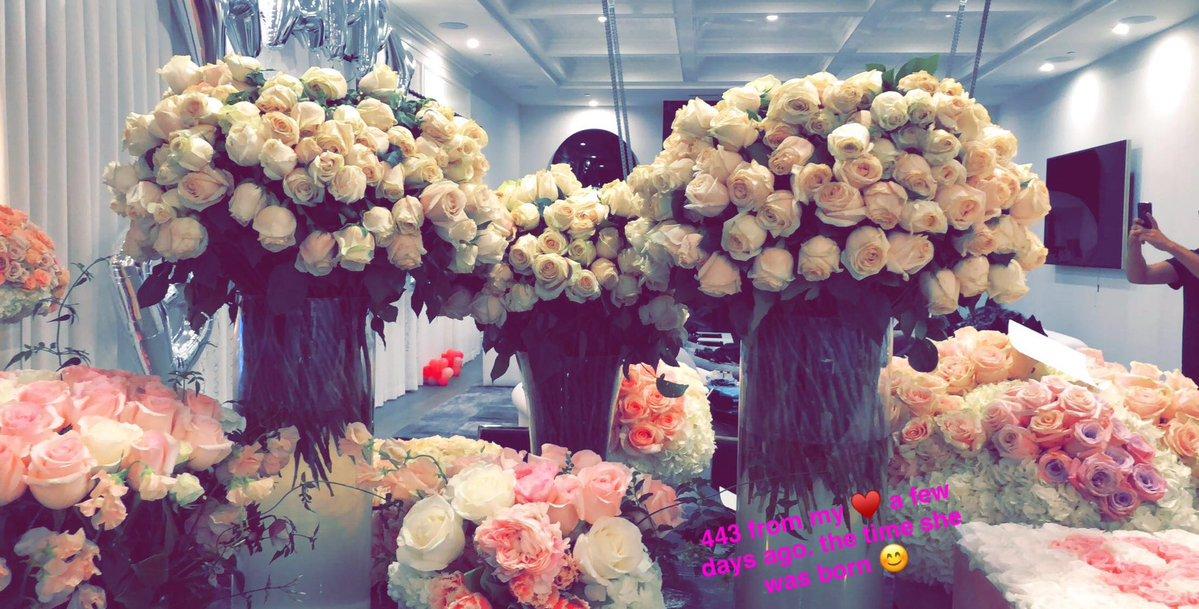 Travis Scott Kylie Jenner Flowers