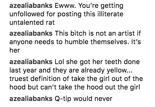 Azealia Banks Cardi B comments