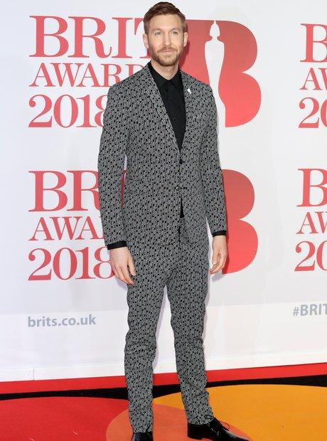 Calvin Harris BRIT Awards 2018 red carpet