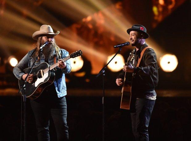 Justin Timberlake performing BRIT Awards 2018