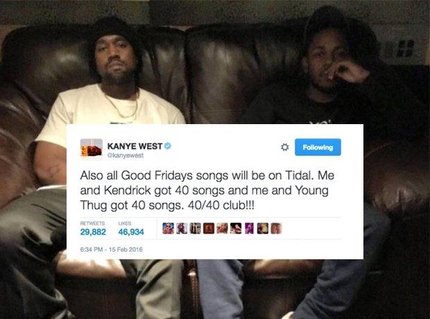 Kanye West Kendrick Lamar