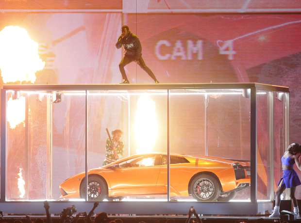 Kendrick Lamar BRIT Awards performance 2018