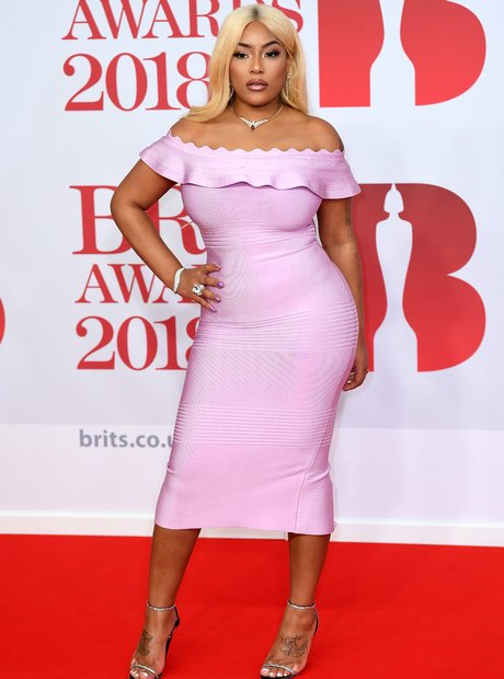 Stefflon Don Brit Awards 2018 red carpets