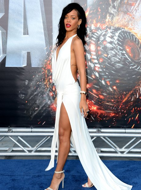 Rihanna white dress