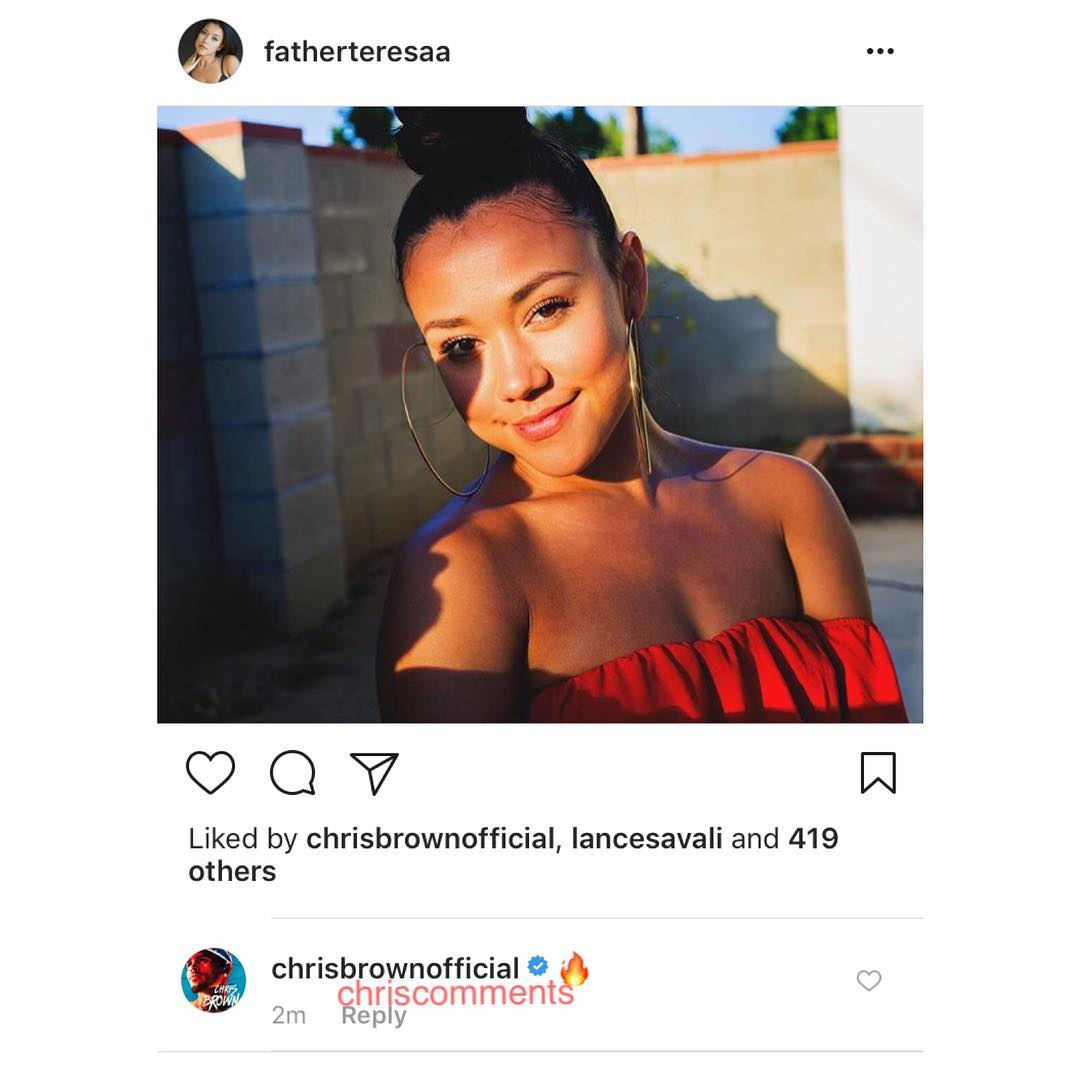 Chris Brown Instagram replies