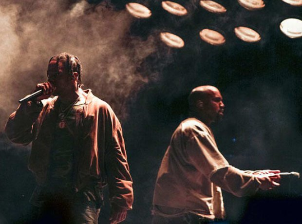 Travis Scott and Kanye West