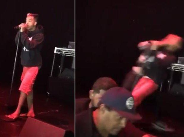 XXXTentacion stage punch