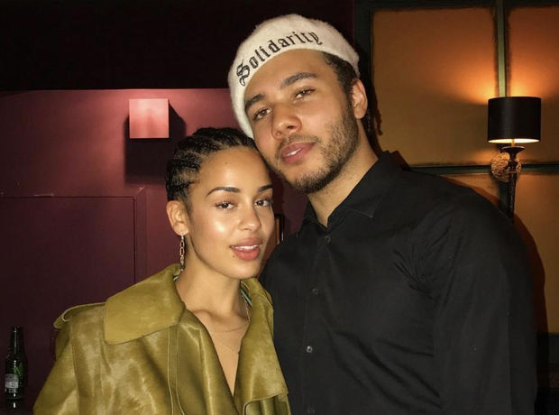 Jorja Smith and her boyfriend Joel Compass