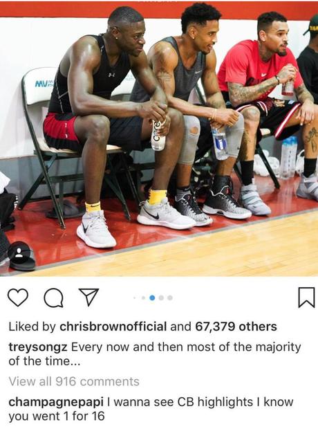 Drake Praises Chris Brown At Basketball