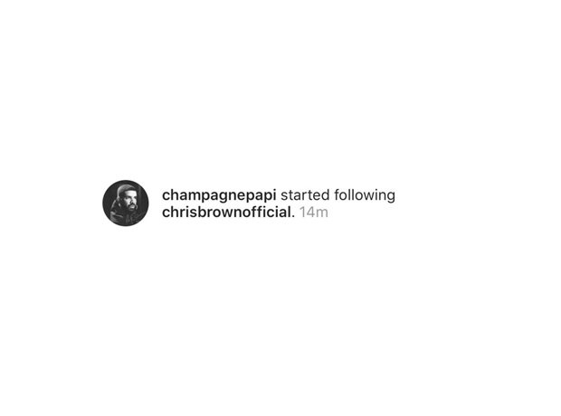 Drake Follows Chris Brown