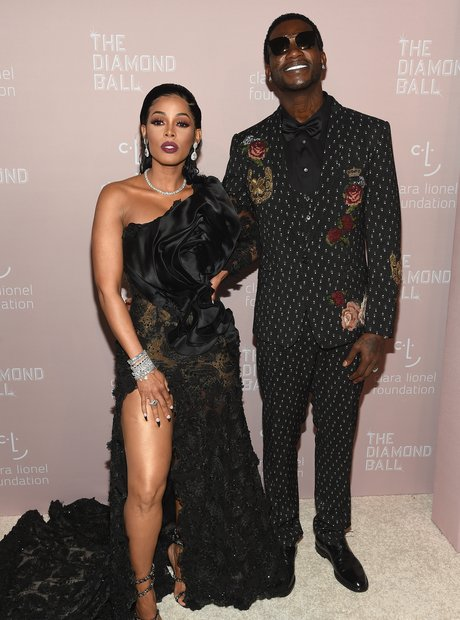 Keyshia Cole and Gucci Mane at Rihanna's 4th Annua