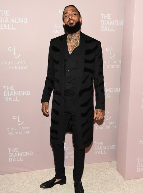 Nipsey Hussle at Rihanna's 4th Annual Diamond Ball