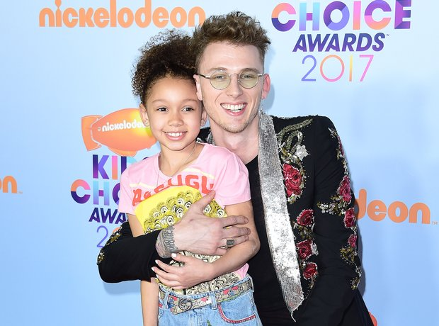 Machine Gun Kelly and his daughter