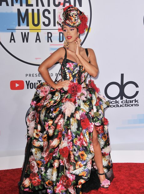 Cardi B AMAs 2018 Red Carpet Dress