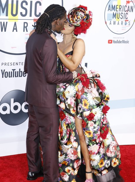 Offset and Cardi B AMAs 2018 Red Carpet