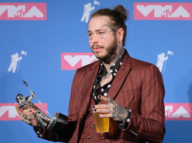 Post Malone at the VMA's 2018