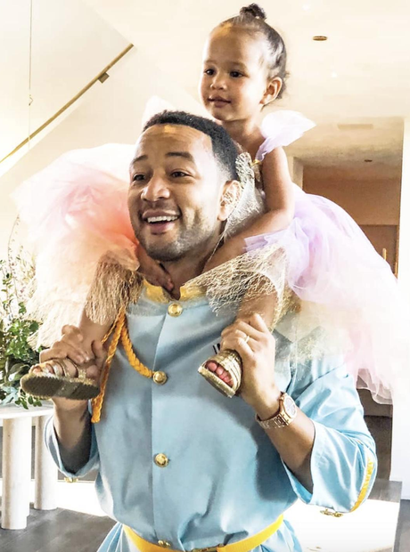 John Legend and Luna on Halloween
