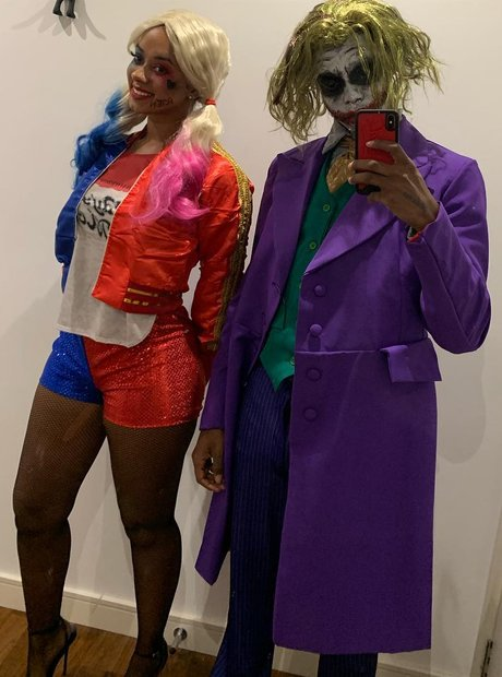 Krept and his girlfriend Joker and Harley Quinn