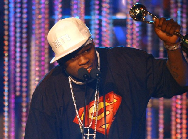 50 Cent performing in 2003