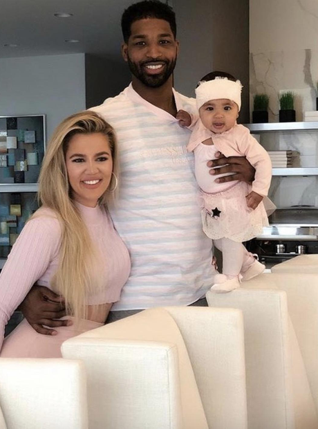 Khloe Kardashian, Tristan Thompson and True on Tha