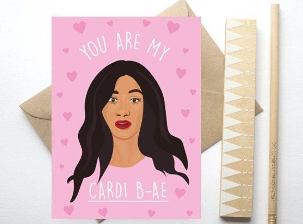 cardi B valentines day card