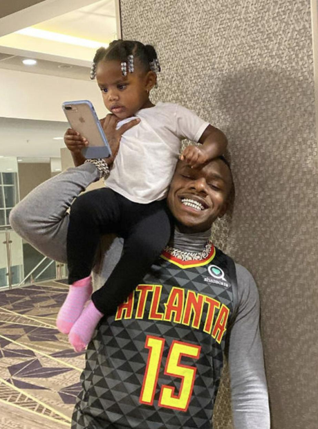 DaBaby and his daughter